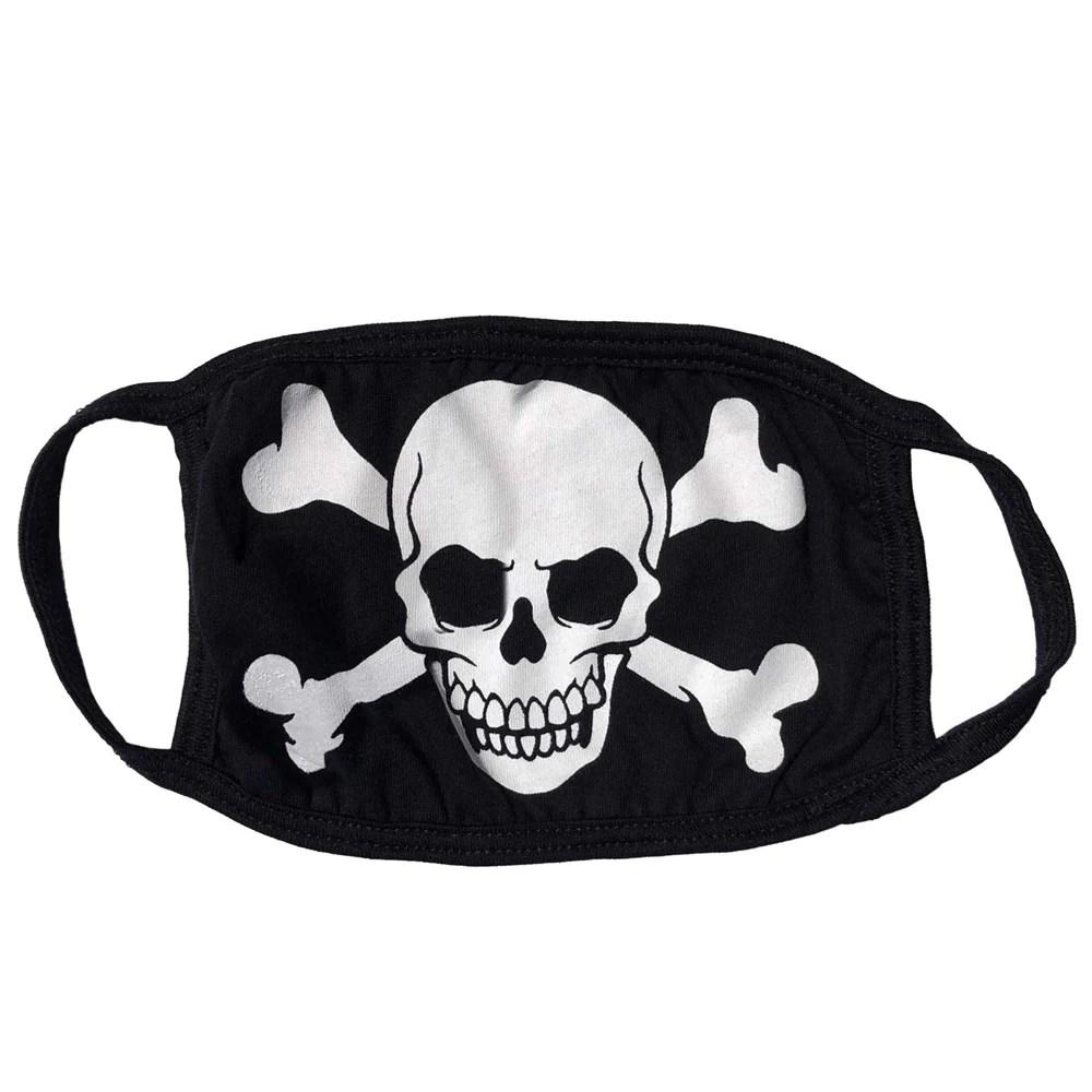 Skull Crossbones White Face Mask Kreepsville 666