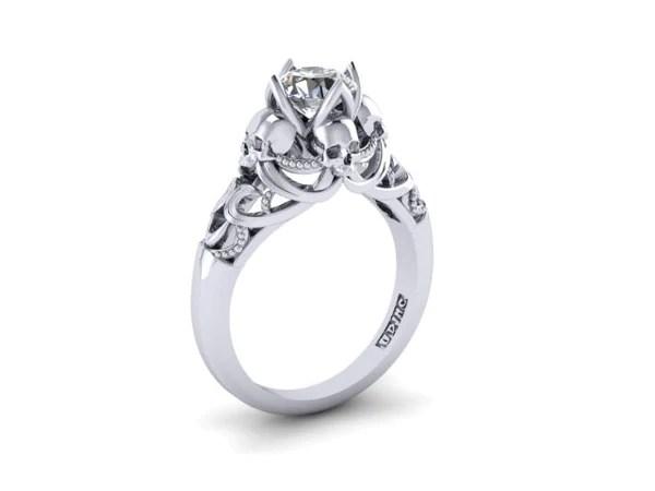 Secret Skull Engagement Ring UDINC0533 Until Death Inc