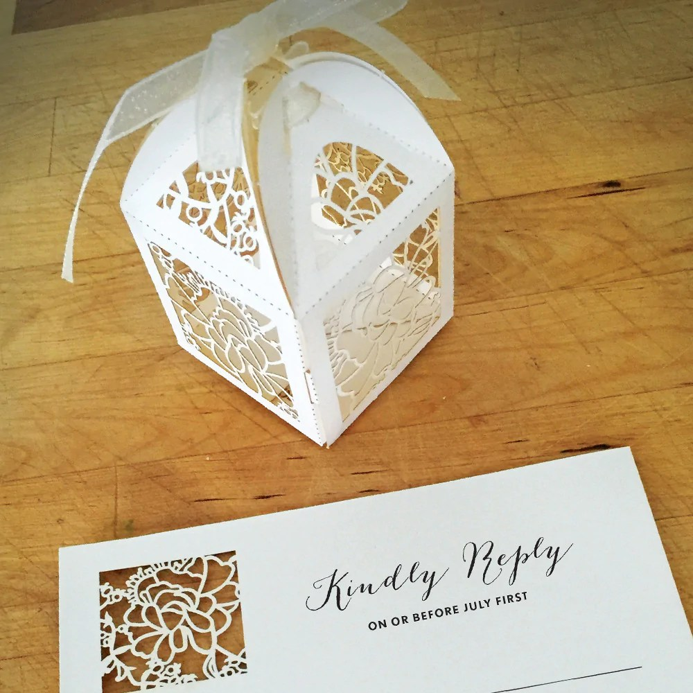 Lace Paper Wedding Invitations