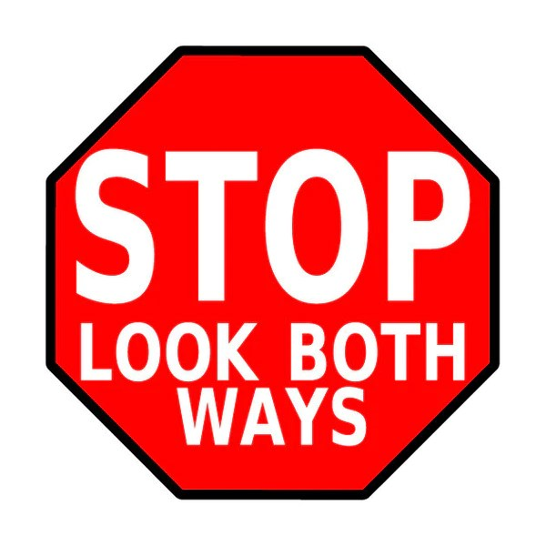 Stop Sign Look Both Ways Shop Mighty Line Safety