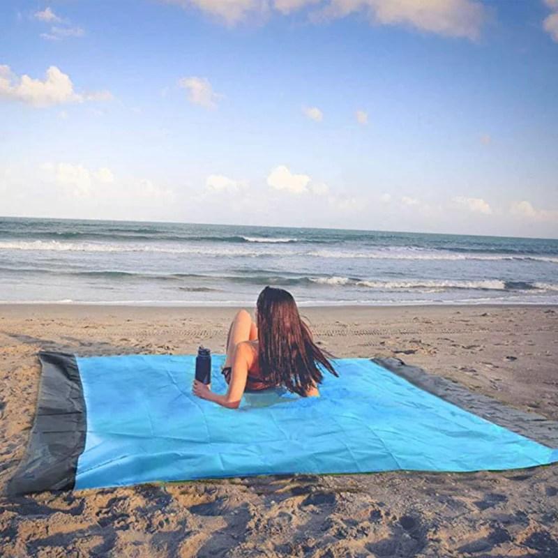 ensabler tapis de plage magique anti sable