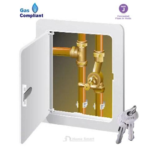 White Access Panel Inspection Hatch Gas Safe Key Lock