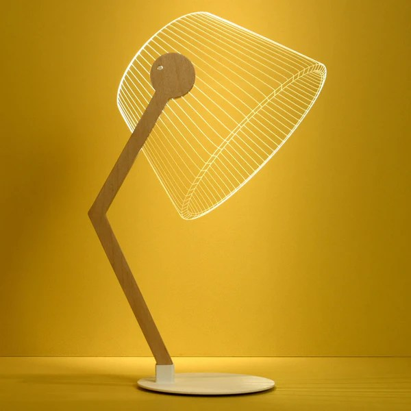 Bulbing Ziggi Lamp Optical Illusion Alluring 2D Light Looks Like 3D Zillymonkey