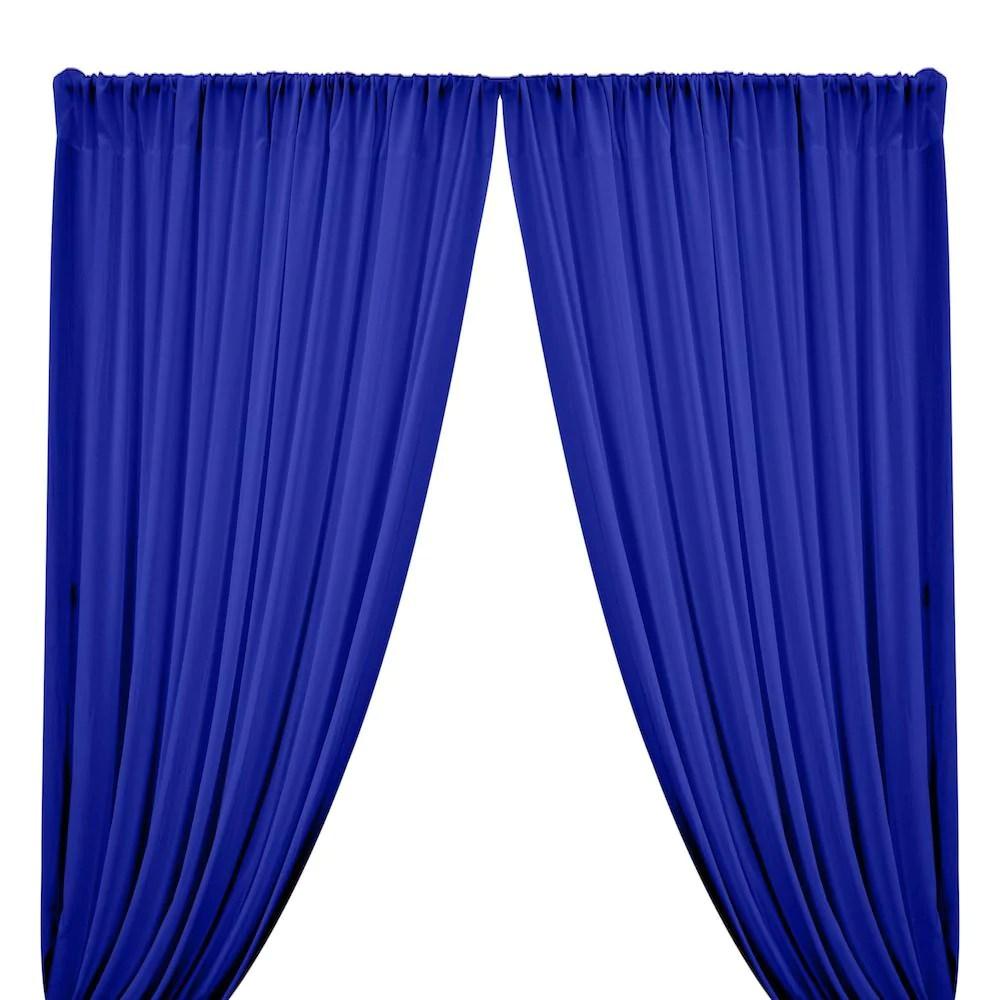 rayon challis rod pocket curtains royal blue