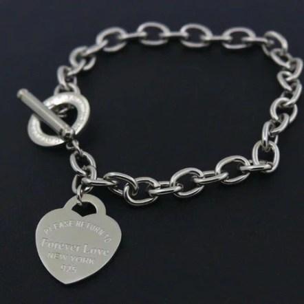 Charm Bracelets For Women Heart Bracelet Silver Gold Girl Link Chain Bangle