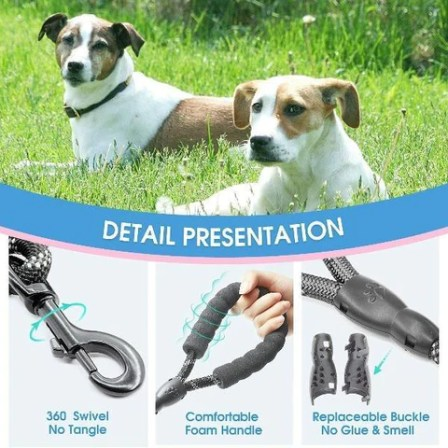 Dog Leash 5FT Large Pet Rope Reflective Nylon Leads with Comfy Handle