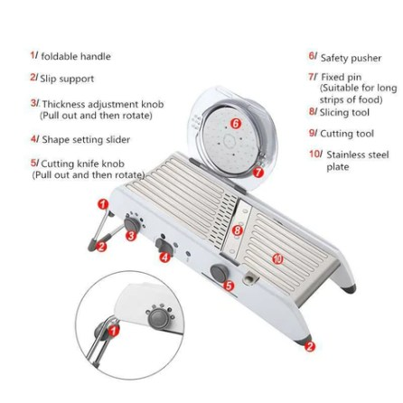 Mandoline Slicer Multi-Shapes Vegetable Cutter & Dicer