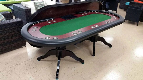 Deluxe Solid Wood Texas Holdem Poker Card Table 10 Person San Diego Factory Direct Wholesale