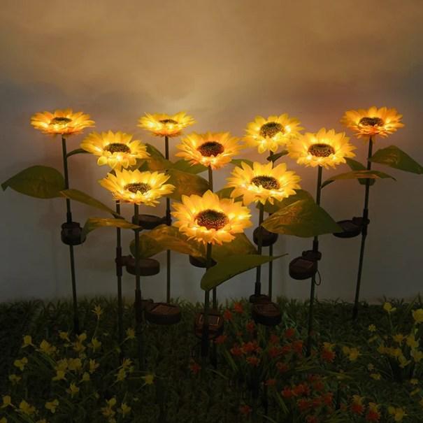 Led Sunflower Solar Yard Light Outdoor Waterproof Garden Decoration La – Casa Bargains
