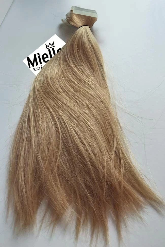 Butterscotch Blonde Tape In Extensions Straight Remy