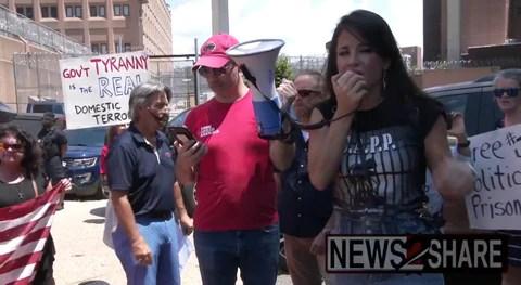 Cara Castronuova at Washington DC LAA July 17 Rally outside the Washington DC Jail that houses Biden's Political Prisoners!