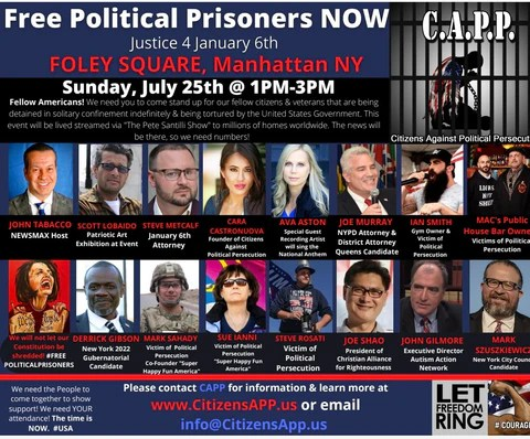 July 25th in NYC at Foley Square from 1pm to 3pm - Share and Bring Your Family