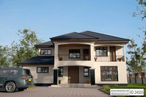 4 Bedroom House Plans   Designs for Africa   House Plans by Maramani 4 Bedroom House Plan   ID 24505