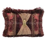 Opulent Accent Pillow Burgundy And Gold Reilly Chance Collection