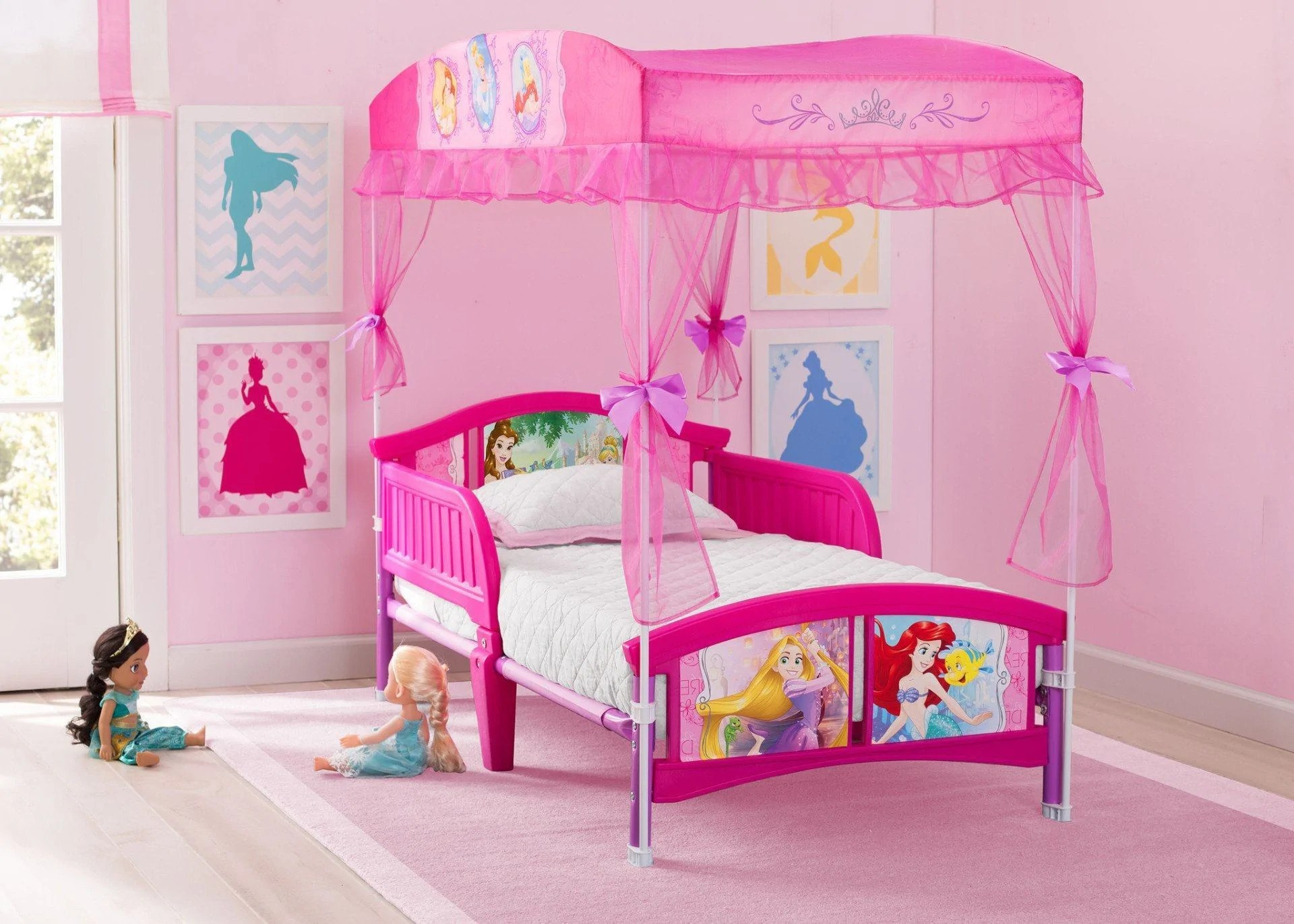 Princess Toddler Canopy Bed Delta Children