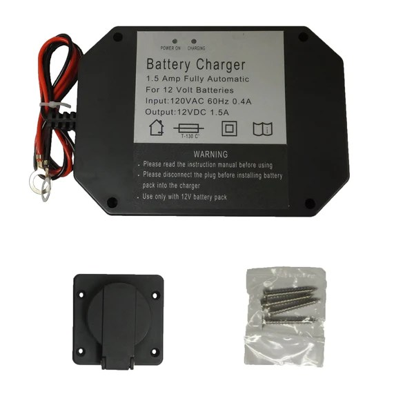 Panel Mount Battery Charger  15 Amps – wwwOrderTrailerParts