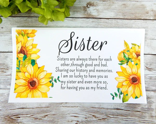 Happy Birthday Sister Gifts Sunflower Gift Basket For Sister Stoneriverjewelry