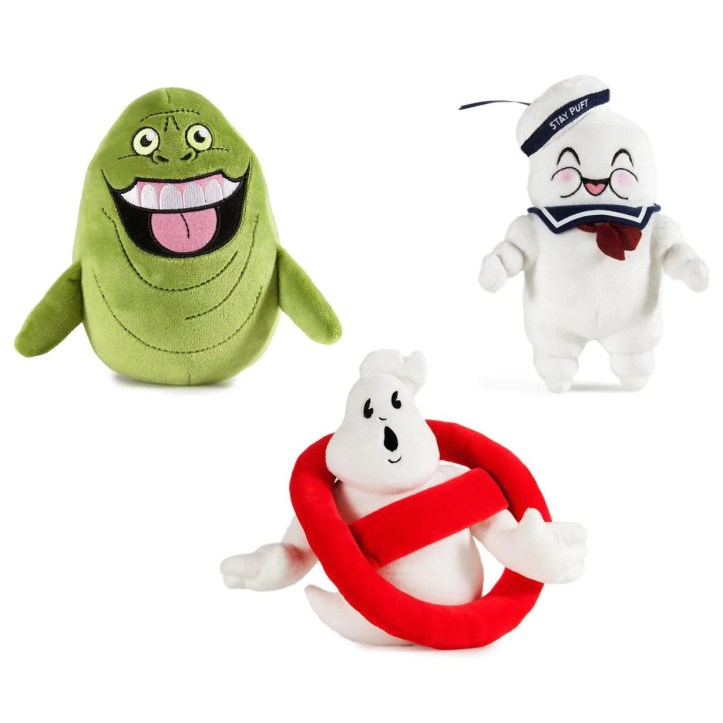 Ghostbusters Slimer, Stay Puff & Ghostbuster Logo Plush Toys - Kidrobot
