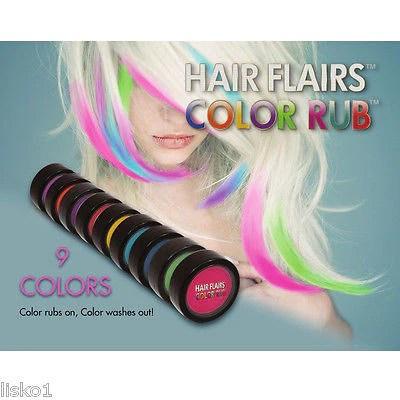 hair chalk hair flairs color rub temporary vibrant fun hair colors 1 lisko beauty barber supply