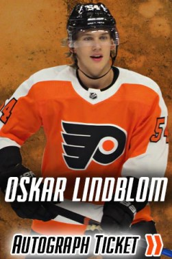 Oskar Lindblom Philadelphia Flyers Experience Tickets | Flyers Autograph and Signing Event