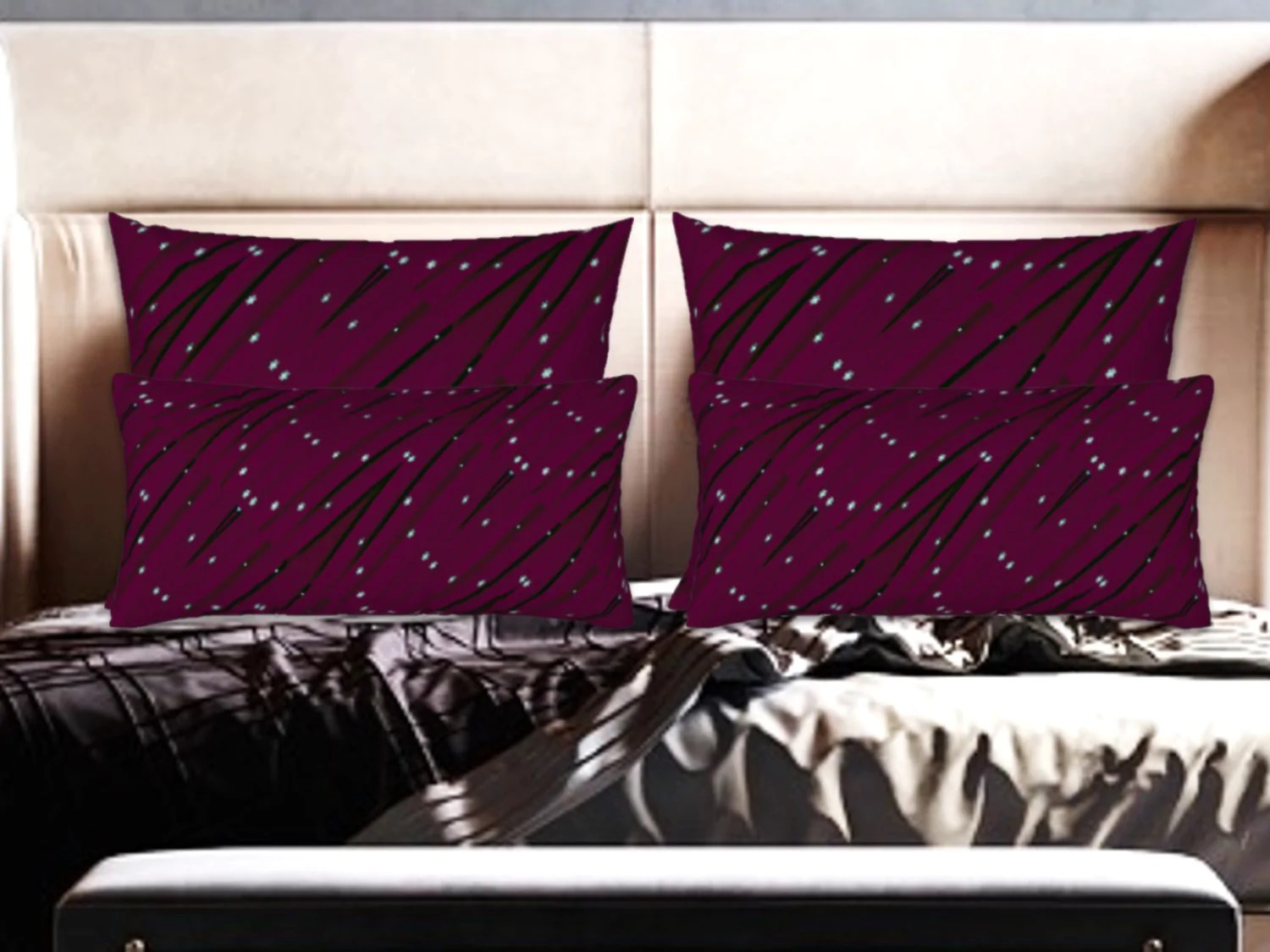 holiday decor idea burgundy red pillow covers shams matching cushion covers