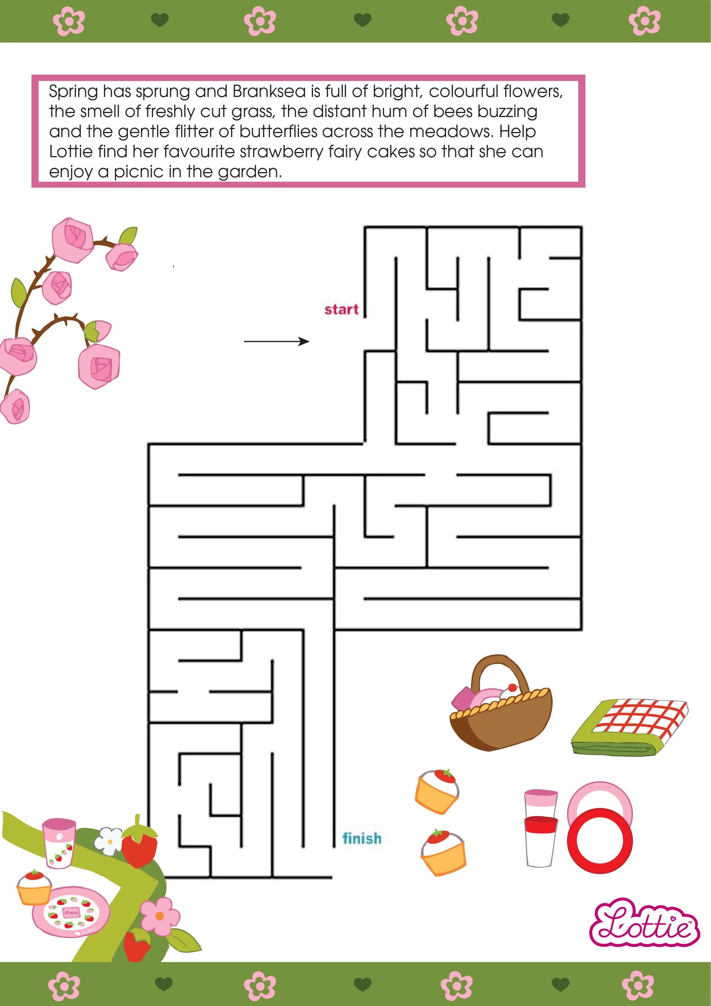 English Country Garden Lottie Printable Maze Lottie Dolls
