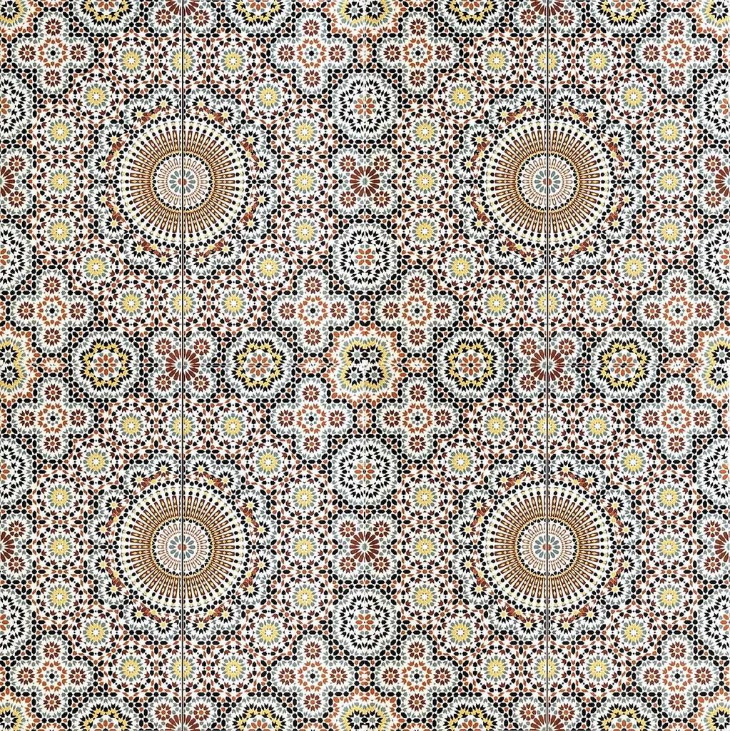 arabesque floret moroccan printed ceramic wall tile
