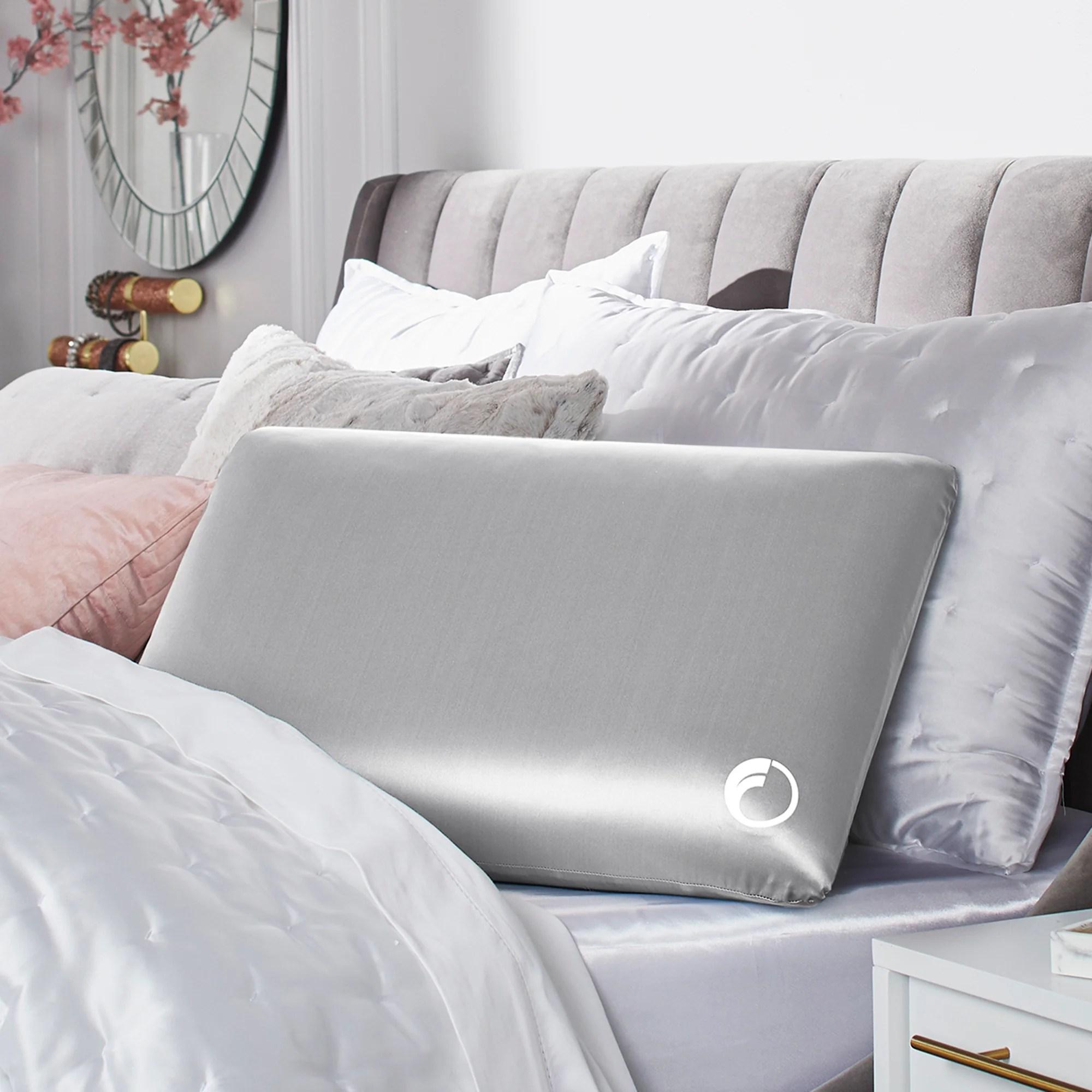 goodnight glow luxe silk memory foam pillow