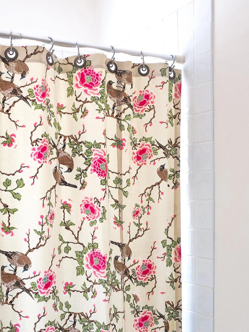 Lovebird Shower Curtain In Natural
