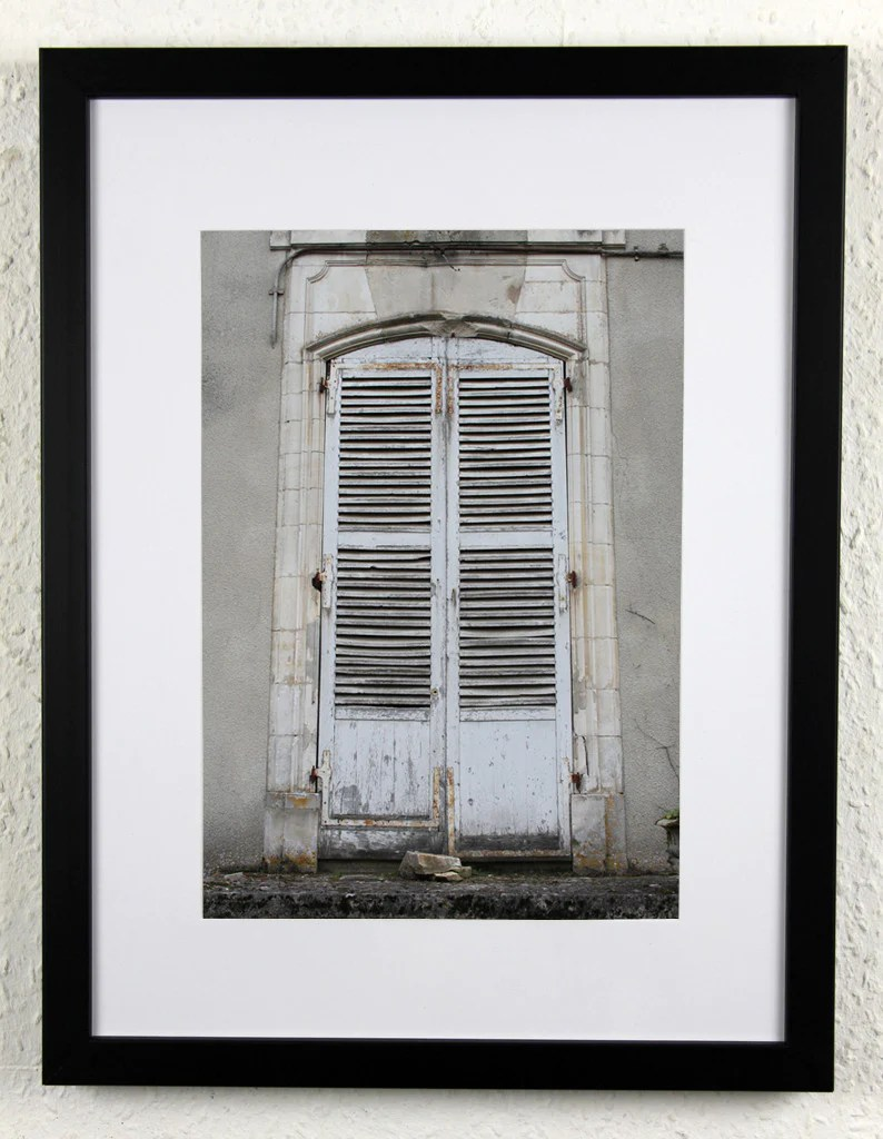 Chateau Shutters French Chateau Photography Framed