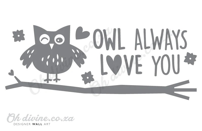 Download Owl always love you Wall Decal - Oh Divine Online Shop for ...