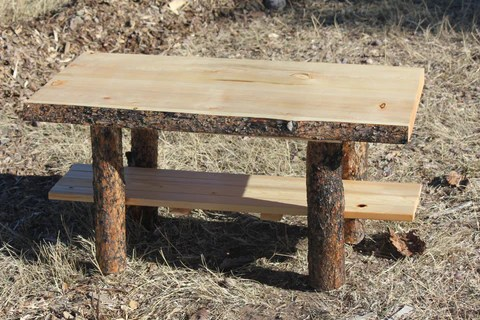 rustic log coffee table cabin lodge country log furniture choice of top free shipping