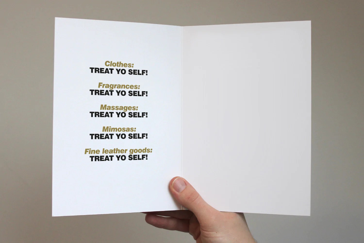 Treat Yo Self Card Parks And Recreation