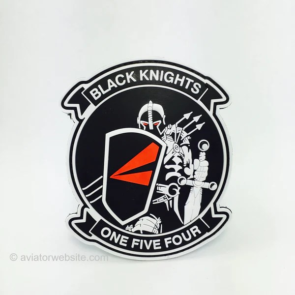 VFA 154 Black Knights Original PVC Patch AVIATORwebsite
