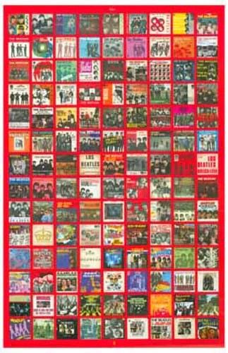 The Beatles 45s Picture Sleeves Album Covers Music Poster