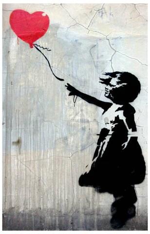 Banksy Balloon Girl Poster 11x17 BananaRoad