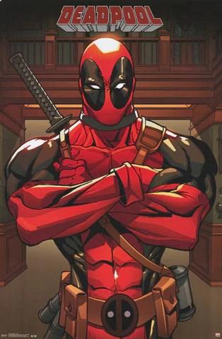 Deadpool Anti Hero Marvel Comics Poster 22x34 BananaRoad