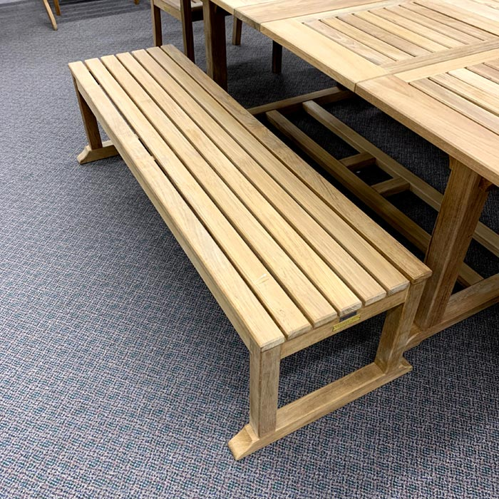 chelsea patio dining bench kingsley