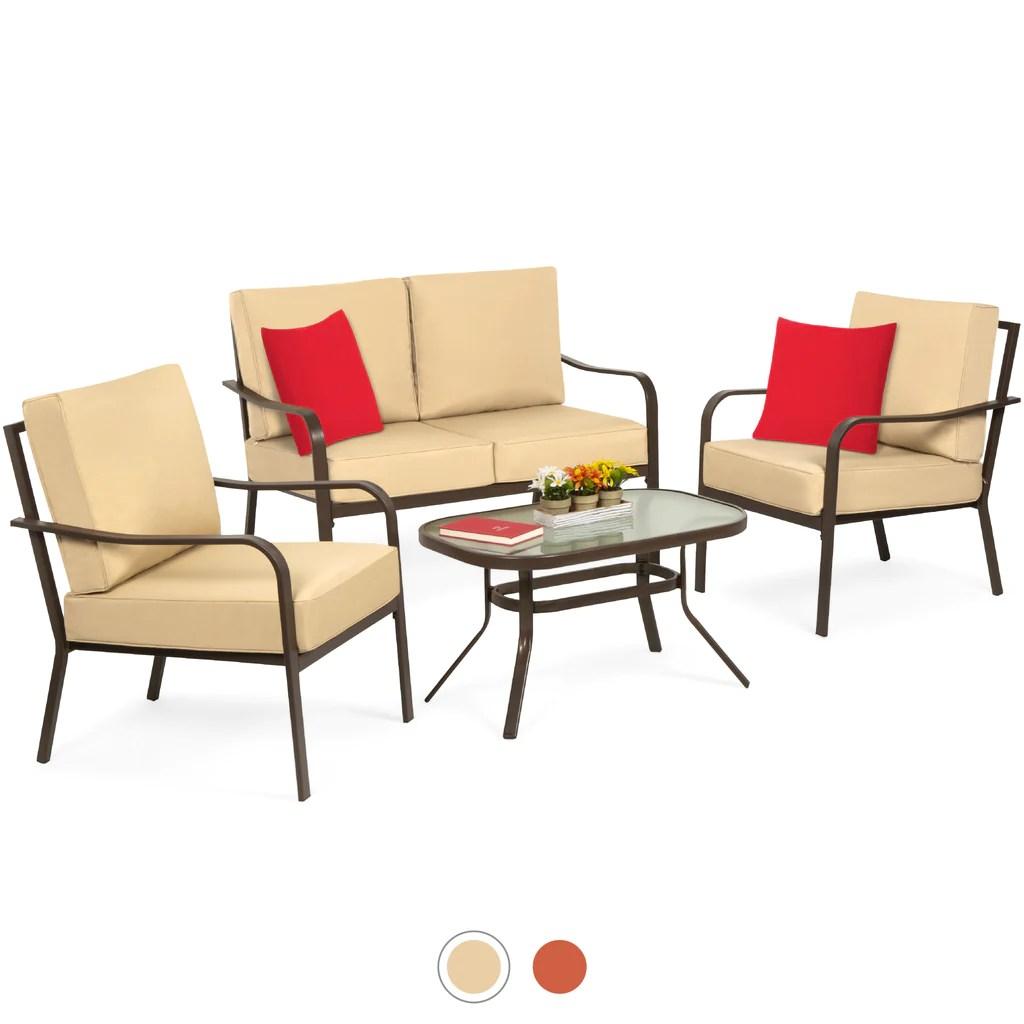 4 piece outdoor patio furniture set w
