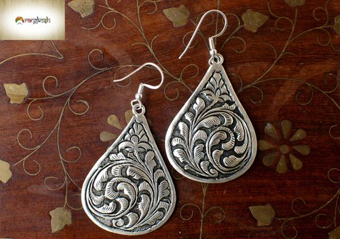 Vine Drop Earrings – 925 Sterling Silver