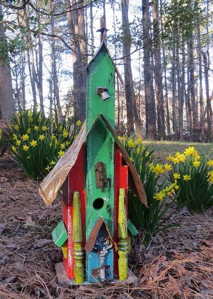Rustic Church Birdhouses Tall Vintage Birdhouses