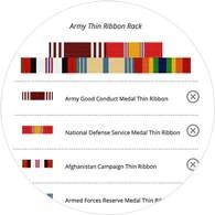 official military thin ribbon racks