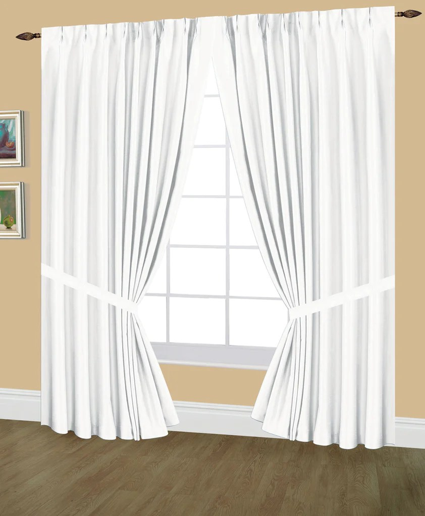 Elaine Pinch Pleated Lined Drapes Double Width With Tie Backs Amp Hooks Editex Home Textiles