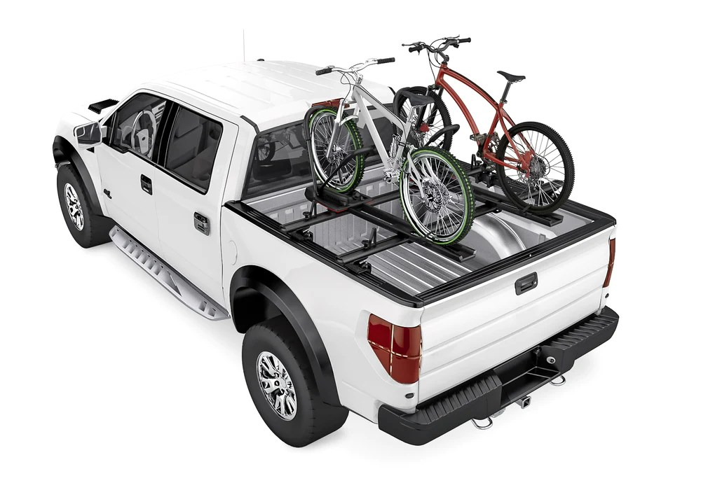 aa racks low profile aluminum truck bed rack for trucks and trailers with open rails 300lb on road capacity apx2503