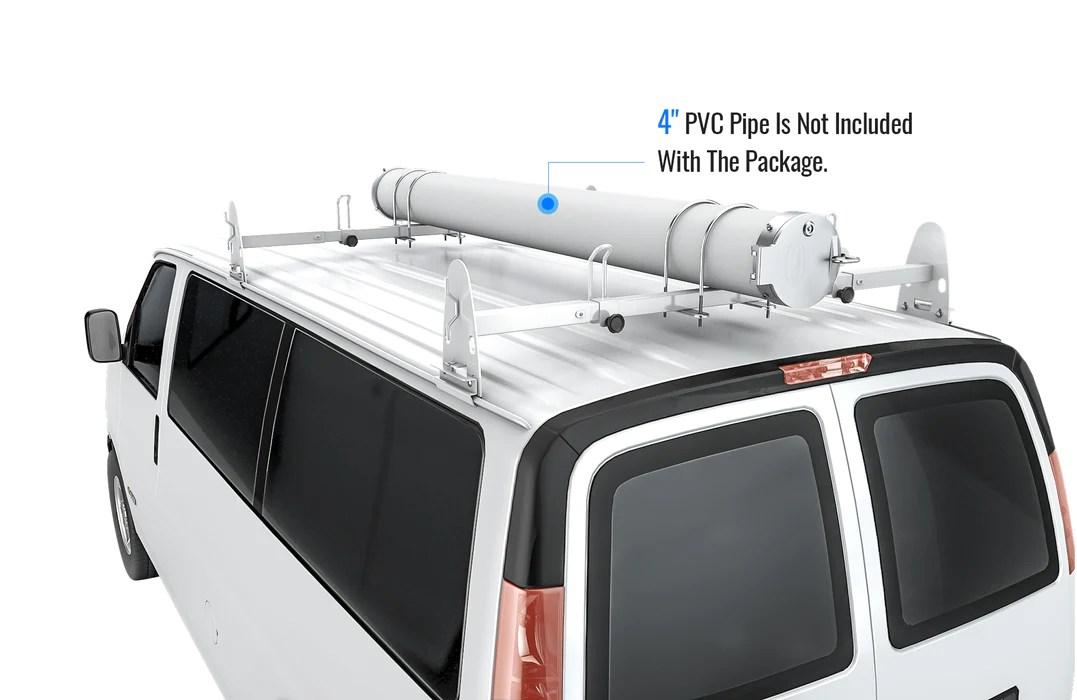 aa products universal conduit carrier kit fit 4 pvc pipe no drilling required silver