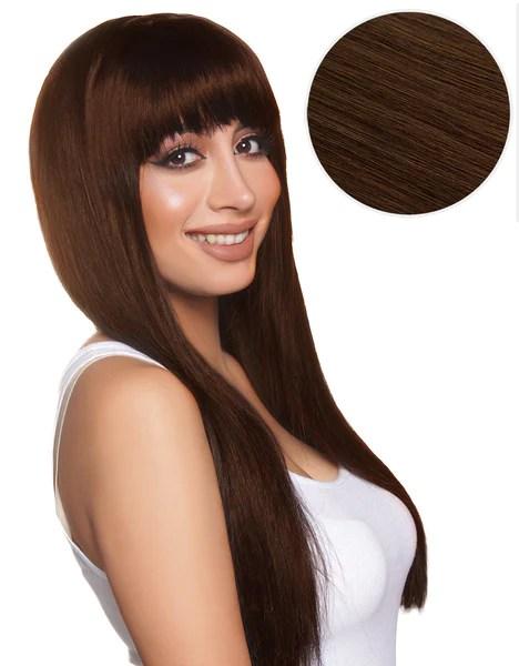 Cleopatra Clip In Bangs Chocolate Brown 4 BELLAMI