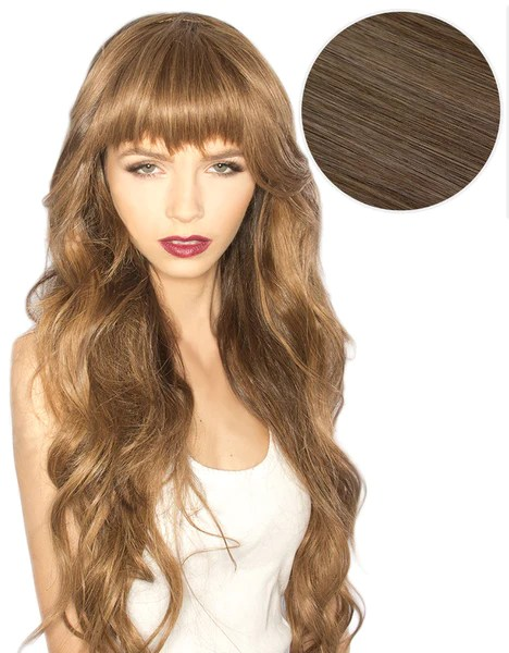 Cleopatra Clip In Bangs Ash Brown 8 BELLAMI BELLAMI Hair