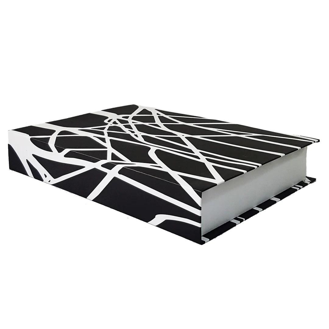 Black White Black Coffee Table Book Faux Red Acacia Lagos
