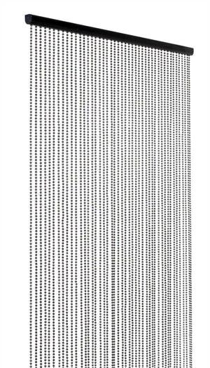 16 foot beaded curtain faux metal gray ball chain