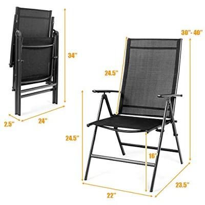 giantex 2 piece patio folding chairs